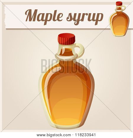 Maple syrup. Detailed Vector Icon