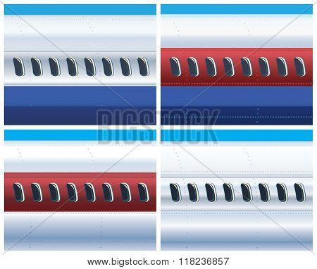 The Fuselage Of A Commercial Aircraft