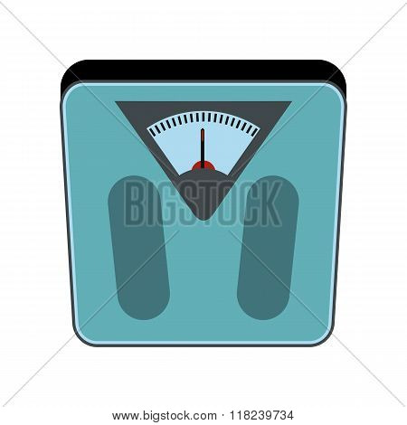 Weigher Cartoon Icon Isolated On White Background