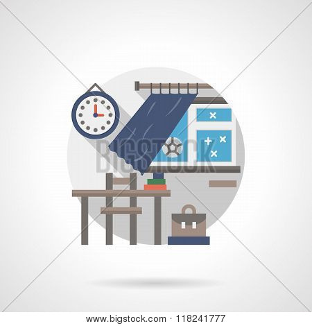 Classroom detail flat color vector icon