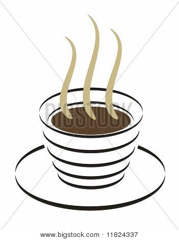 Line art of Coffee cup