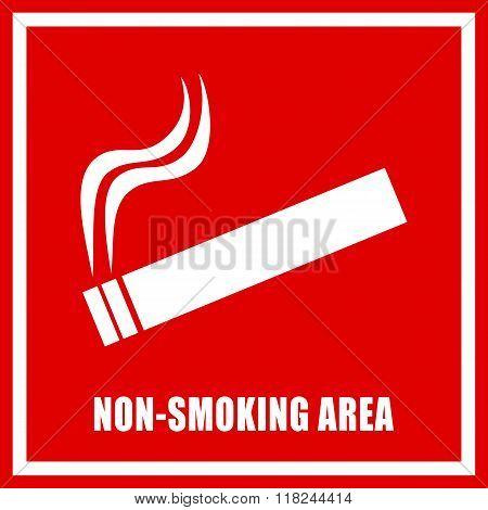 Non smoking area sign