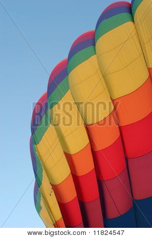Beautiful colorful hot air balloon