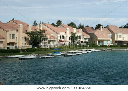 Beautiful lakefront homes