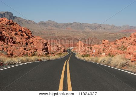 Winding road to Valley or Fire