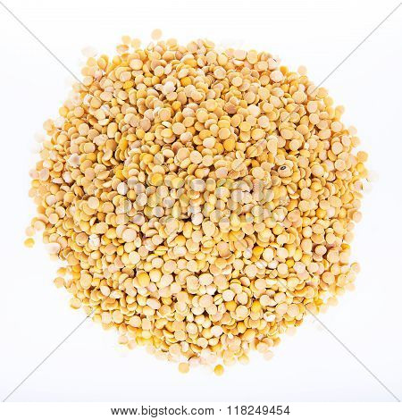 Close-up soybean on a white background for health