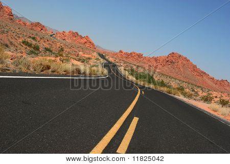 Beautiful desert road