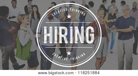 Hiring Job Career Employee Manpower Concept