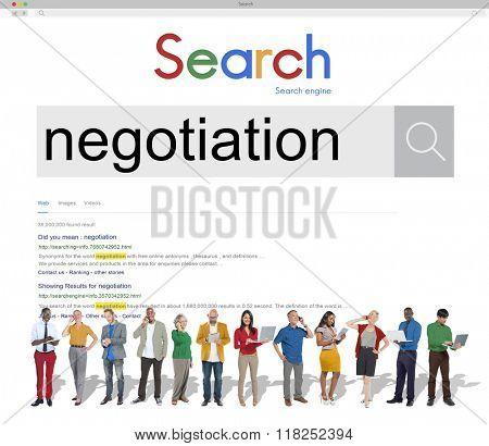 Negotiation Compromise Agreement Reconcile Concept