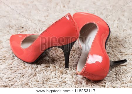 Red High Heel Women Shoes