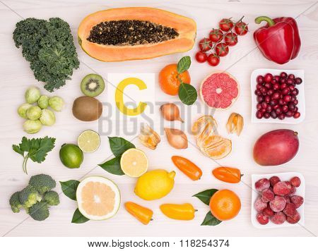 Vitamin C containing foods