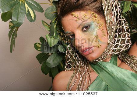 Beautiful make-up girl