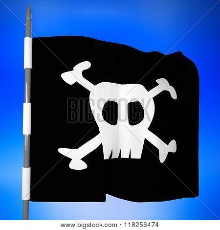 Pirate Flag, 3D