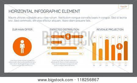 Horizontal infographic element 1