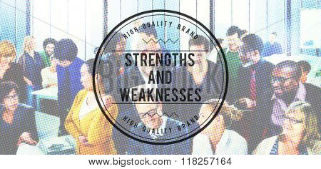 Strengths and Weaknesses Opportunities Threats Concept