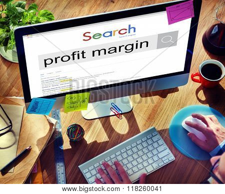Profit Margin Payments Budget Accounting Ratio Concept