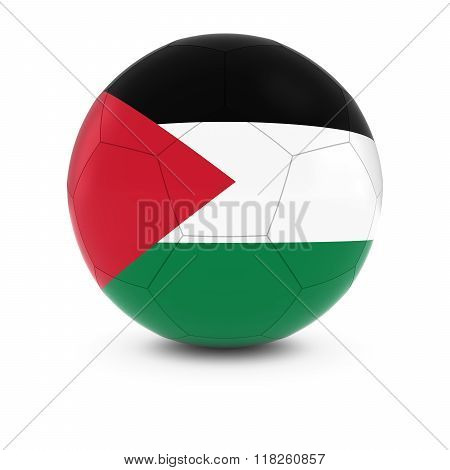 Palestine Football - Palestinian Flag on Soccer Ball - 3D Illustration