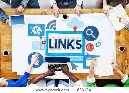 Link Network Hyperlink Internet Online Concept