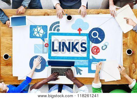 Link Network Hyperlink Internet Online Concept
