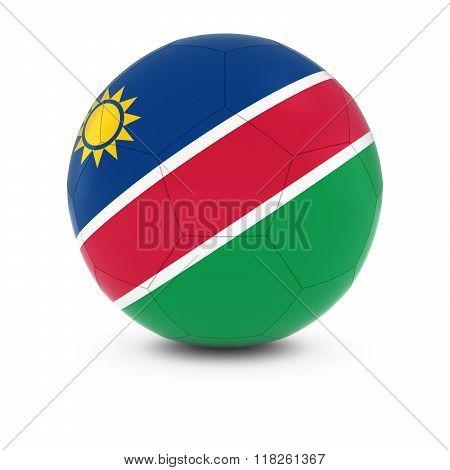 Namibia Football - Namibian Flag on Soccer Ball - 3D Illustration