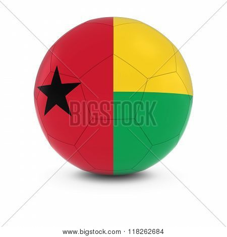 Guinea-Bissau Football - Bissau-Guinean Flag on Soccer Ball - 3D Illustration