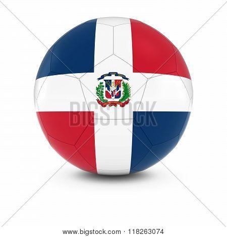 Dominican Republic Football - Dominican Flag On Soccer Ball