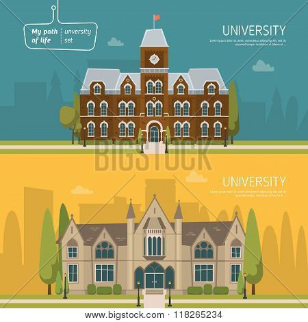 University building vector illustration