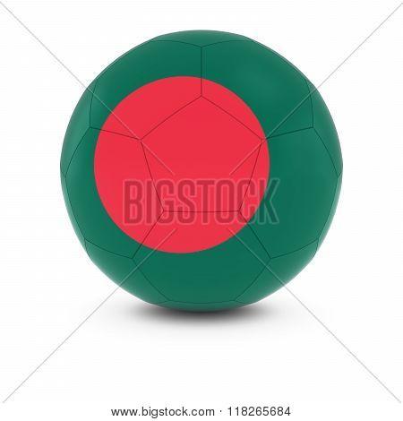 Bangladesh Football - Bangladeshi Flag On Soccer Ball