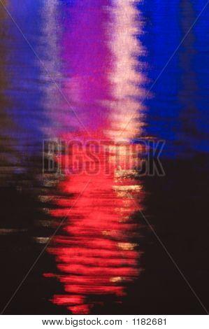 Artistic Neon Reflection