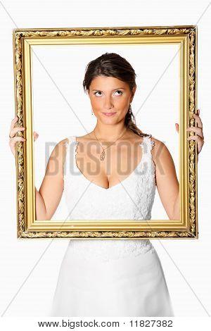Bride With Golden Frame