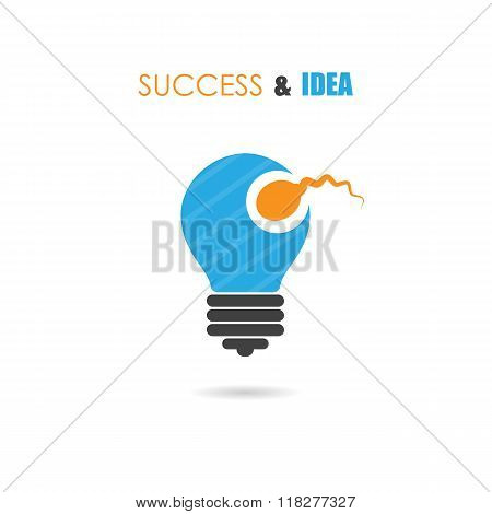 Sperm Symbol And Light Bulb Sign.creative Idea And Success Icon.business And Education Concept.