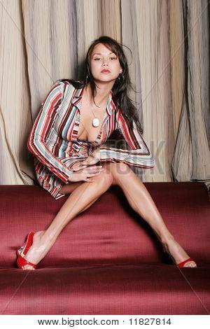 Sexy girl in a nighclub