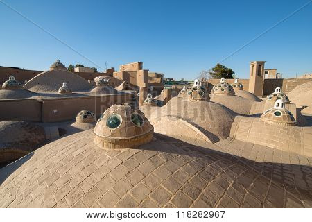 Roof of Sultan Mir Ahmed Hammam (bathhouse) , Kashan , Iran