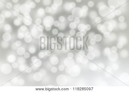 Silver Bokeh Background
