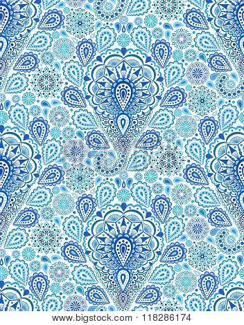 Intricate Blue Paisley Pattern