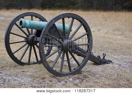 Bull Run Green Cannon In Field