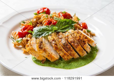 Chicken With Whole Wheat Pasta