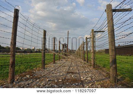 Barb-wire Fence Of Majdanek Concentration Camp