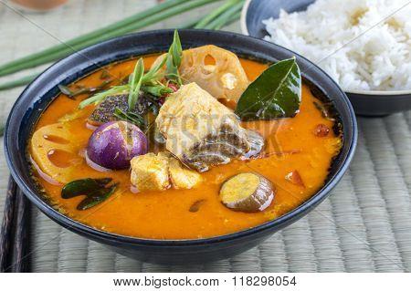 Thai Fish Soup in Bowl