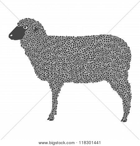 Graphic A Sheep, Vector