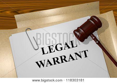 Legal Warrant Concept