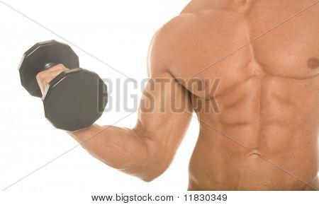 Construtor do corpo malhando