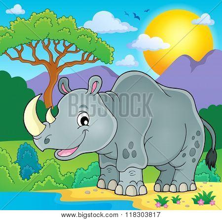 Rhino theme image 2 - eps10 vector illustration.