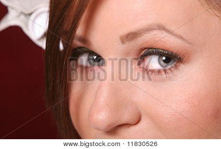 Pretty sexy woman close up