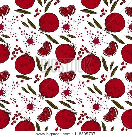 Pattern With Pomegranate