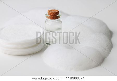Skin care foam and cotton pads