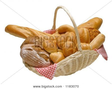 Korb mit Brot