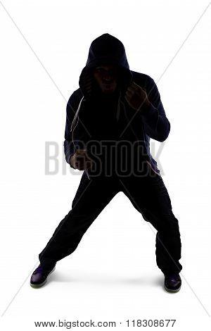 Shadow Boxing Athlete