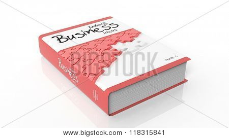 Hardcover book on Making Business illustration on cover, isolated on white background.