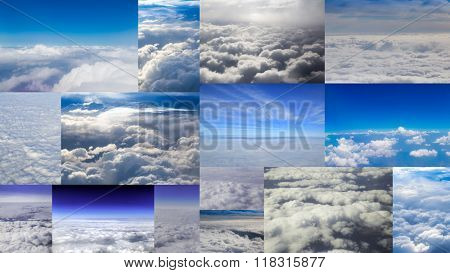 Collection of aerial cloud shots.